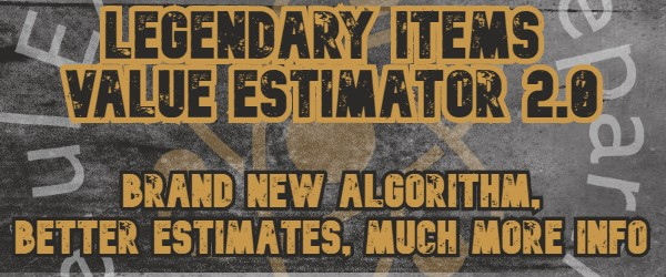 Legendary Item Value Estimator 2.0